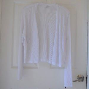Calvin Klein Cropped Open-Front Cardigan Large